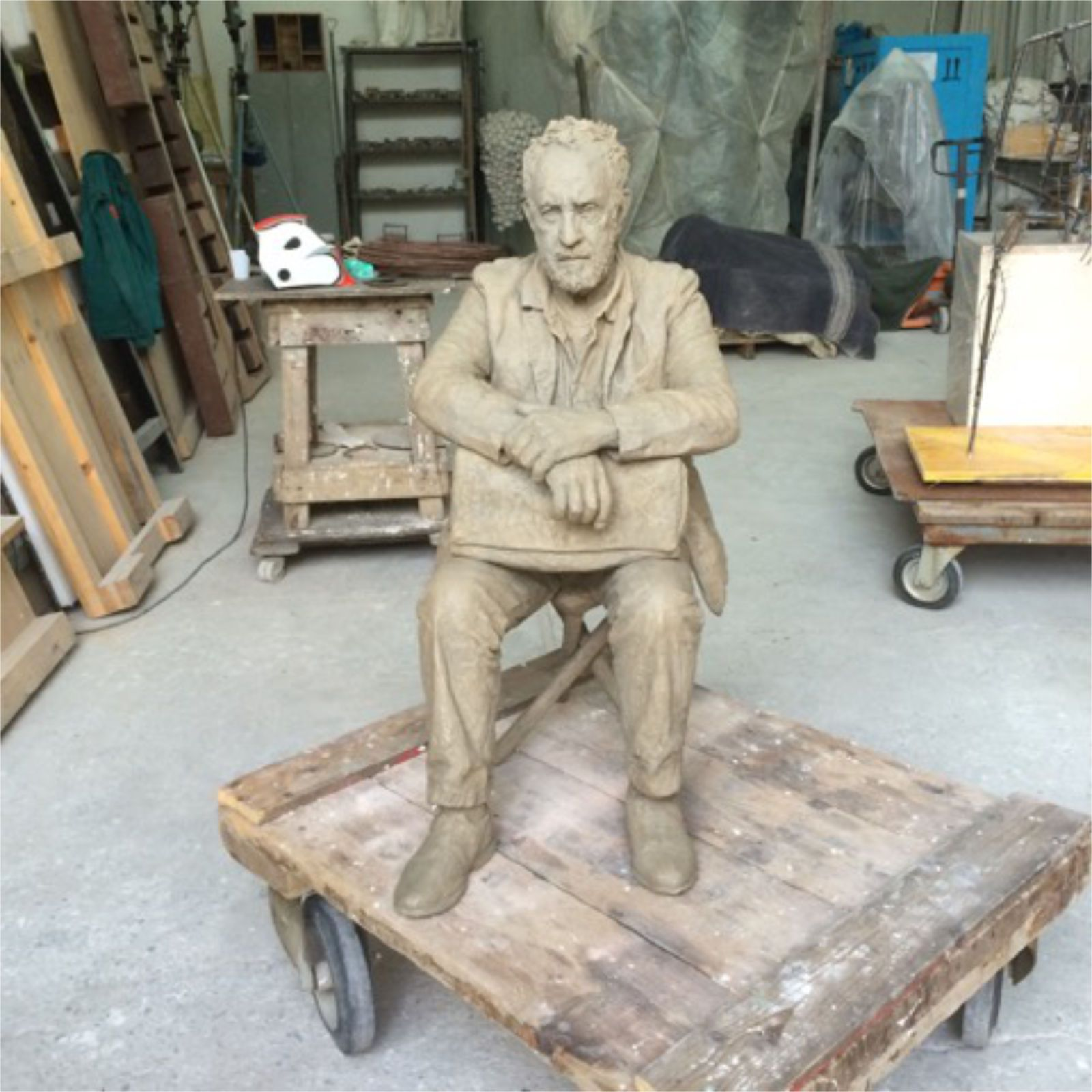 Seated man on a stool, 2016
